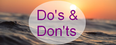 Do's en Don'ts in de zon
